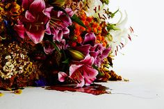 azuma makoto represents the stages of decomposition using flowers ...