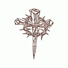 Cross of Nails with Crown of Thorns