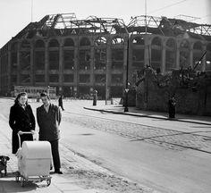 Berlin 1950 Moritzplatz (Warenhaus Wertheim im Hintergrund,Ruine)