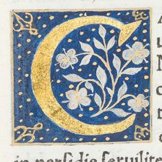 """Decorated initial """"C"""" from Scriptores historiae Augustae 