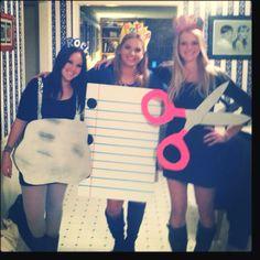 DIY: Rock, Paper, Scissors costume