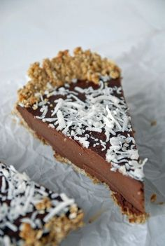 Chilled Chocolate Espresso Torte with Toasted Hazelnut Crust {+Oh She Glows Cookbook Giveaway! Vegan Dessert Recipes, Just Desserts, Delicious Desserts, Cheesecakes, Oh She Glows Cookbook, Chocolate Espresso, Espresso Coffee, Vegan Chocolate, Chocolate Recipes