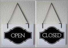 Open Close handmade business sign 9x11 #handmade