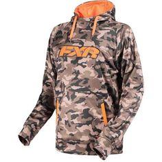 FXR Signature Tech 2017 Mens Pullover Hoodie Army Urban Camo/Orange MD, Size: Medium