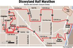 MAP: Half-marathon route