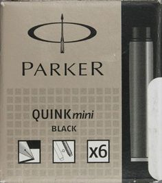 Parker Quink Mini Ink Cartridge Washable Black