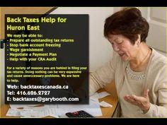 Huron East   Back Taxes Canada.ca   416-626-2727   taxes@garybooth.com   CRA Audit, Tax Returns