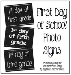 First Day of School Signs for K-5th Grade - free printables for that first day of school picture!
