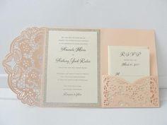 Wedding Invitation Laser Cut Pocketfold Wedding Invitation