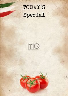 Today's (Italian) Special - Free Special Menu - Printable
