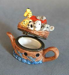 Porcelain Noa s, Noah s Ark Teapot/Tea Pot - Trinket Box *