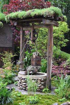 Satoyama Life – designed by Ishihara Kazuyuki – RHS Chelsea flower show Garden Fencing, Garden Art, Garden Kids, Wishing Well Garden, Garden Fountains, Garden Cottage, Chelsea Flower Show, Garden Features, Cool Landscapes
