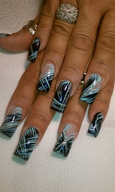 the blues by AlysNails - Nail Art Gallery nailartgallery.nailsmag.com by Nails Magazine www.nailsmag.com #nailart