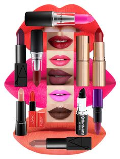 """""""All About Lips"""" by hmthorner ❤ liked on Polyvore featuring beauty, Lime Crime, TheBalm, Fiebiger, NARS Cosmetics, Charlotte Tilbury, MAC Cosmetics, NYX, LIPSTICK and makeup"""