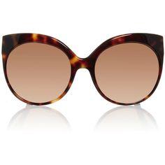d2710d630e7 Linda Farrow Tortoise Shell Cat Eye Sunglasses ( 1