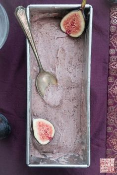 Eat Dessert First Month: Roasted Fig Gelato with Balsamic Caramel @FoodBlogs