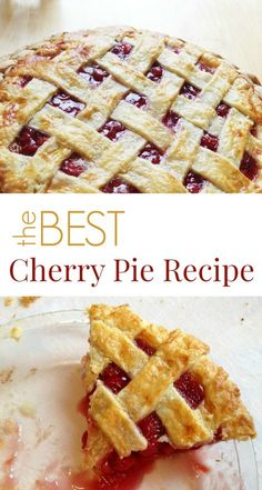 This is the best cherry pie recipe period. As a baker and cherry pie lover, I've fiddled with various recipes and modifications over the years.