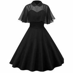 Dress Robes, Cape Dress, Robe Swing, Swing Dress, Pin Up Dresses, Types Of Dresses, Maxi Dresses, Fashion Dresses, Awesome Dresses