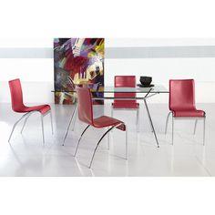 Euro Style Atos 5 Piece Dining Set with Grace Chairs - EUS1843