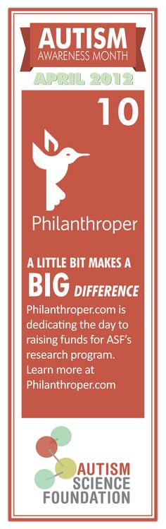 Please Repin!!!     Today, April 11 - Donate $1 to help support autism research at Philanthroper.com. A little bit makes a big difference!  #autism #science #research #donate #fundraiser #AutismAwarenessMonth