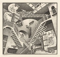 M.C. Escher - I remember sitting in class in high school looking at some of his work. Great artist!