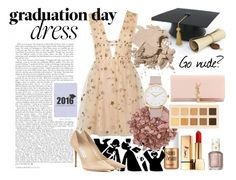 """Go nude for grad"" by ssuashnix ❤ liked on Polyvore featuring Benefit, Yves Saint Laurent, Essie, Valentino, LORAC, The Horse, Jimmy Choo, Bobbi Brown Cosmetics, Kiyonna and graduationdaydress"