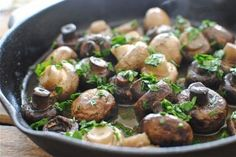 Tapas-Style Sauteed Mushrooms! I would recommend doubling or tripling your recipe.They go fast!