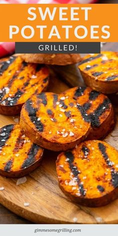 Quick and easy grilled sweet potatoes are a healthy side dish on your grill. They only take 5 ingredients that are already in your pantry. Pair it with your main dish for an easy dinner. via Gimme Some Grilling sweet recipes 5 ingredients Side Dishes For Bbq, Healthy Side Dishes, Side Dish Recipes, Veggie Recipes, Main Dishes, Vegetarian Recipes, Easy Dinner Recipes, Healthy Recipes, Healthy Grilling