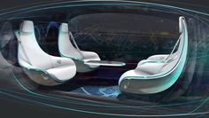 there is no driver, car interiors can go wild It s time for a complete rethink of the car interior of self-driving cars. Here are some ideas.It s time for a complete rethink of the car interior of self-driving cars. Here are some ideas. Car Interior Sketch, Car Interior Design, Interior Trim, Automotive Design, Automotive Engineering, Interior Rendering, Automotive Industry, Mercedes Interior, Automobile