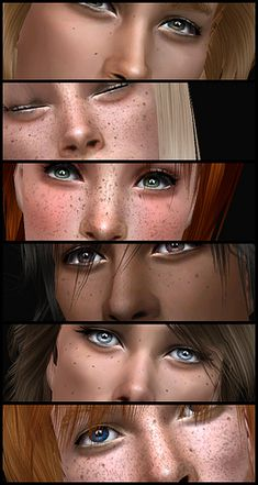 So, making freckles is like, the most brainless thing that I can do while I'm working. Just playing around, adding moles here and there, and refreshing until it looks right... so relaxing. It makes me forget the morons that I have to deal with on a daily basis over the phone. Anyways, a couple of…
