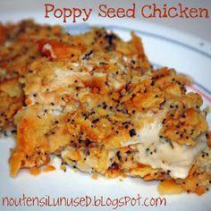 No Utensil Unused: Poppy Seed Chicken