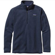 Navy Blue Patagonia Better Sweater 1/4 zip. Beautiful condition. Patagonia Jackets & Coats