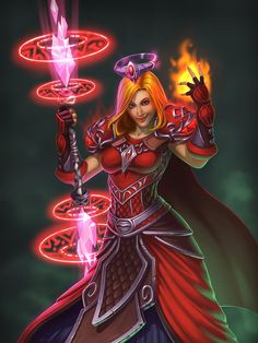 Human mage in World of Warcraft