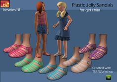 plastic jelly sandals for girl child  Found in TSR Category 'Sims 3 Female Clothing'