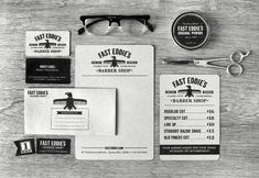 Unique Branding Design, Fast Eddie's Barber Shop @charlesdavisjr #Branding #Design (http://www.pinterest.com/aldenchong/)