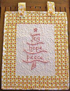Joy Hope and Peace Wall Hanging #quilt #tutorial by TeresaDownUnder