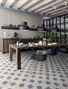 タイルのモダンな取り入れ方とは? #タイル #モダン #アイデア #homify Badkamer & Tegels magazine の 地中海風 キッチン Ceramica Fioranese Cementine
