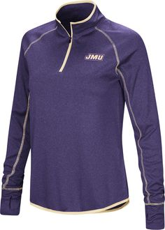 Colosseum Women s James Madison Dukes Grey Shark Quarter-Zip Shirt. Butler  Bulldogs ... 93ec1ea81