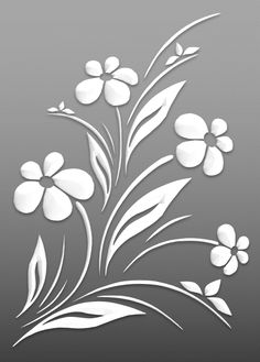 Flowers – Cut Outs – Art & Islamic Graphics Stencil Patterns, Stencil Painting, Stencil Designs, Fabric Painting, Flower Cut Out, Flower Art, Cut Flowers, Arte Bob Marley, Mural Floral