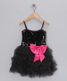 Take a look at this Black Princess Sparkle Tutu Dress - Toddler & Girls by Bébé Oh La La on #zulily today!