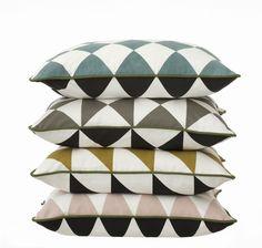 Coussin Large Geometry / coton - 50 x 50 cm