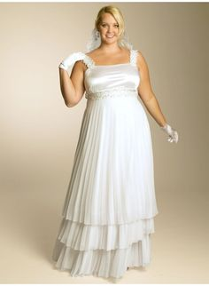 A-line Floor-length Spaghetti Straps Chiffon Plus Size Wedding Dresses with Appliques Style: Plus Size Brides, Plus Size Gowns, Plus Size Wedding, Big And Tall Outfits, Plus Size Outfits, Bridal Gowns, Wedding Gowns, Tulle Wedding, Portraits
