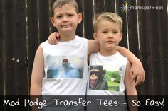 Mod Podge Transfer Tees Tutorial
