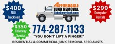 """We provide Residential & Commercial Junk Removal Services to the Greater Metro-West. We specialize in Estate and  Foreclosure clean outs, utilizing the most """"green"""" methods available. And best of all, """"You Don't Lift a Finger"""".  Visit http://www.takeawayjunk.com/ #junkremoval #dumpsterrental #massachusetts #cleanouts"""