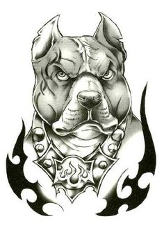"Classic Urban Pitbull Temporary Body Art Tattoos 2.5"" x 3.5"" TMI, http://www.amazon.com/dp/B008ULAPRO/ref=cm_sw_r_pi_dp_acFiqb07ZN53M #tattoos #dogs #pitbulls #pets #animals"