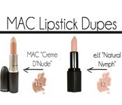 MAC lipstick Dupes from the drugstore, via BlogHer