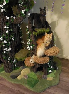 Hollywood Kitty Company offers the finest in Custom Pet Furniture! Cat Castle, Cat Tree House, Cat Towers, Animal Room, Cat Condo, Cat Aesthetic, Cat Room, Pet Furniture, Cat Decor