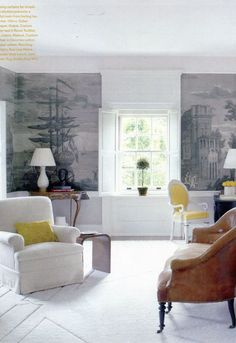 wood under and over window Elements of Style Blog   Gorgeous Grisaille   http://www.elementsofstyleblog.com