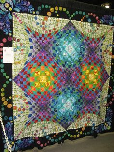 A Waltz of Circle quilt in AQS show in Paducah 2008