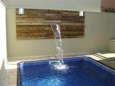 piscina pequena com casacata - Pesquisa Google